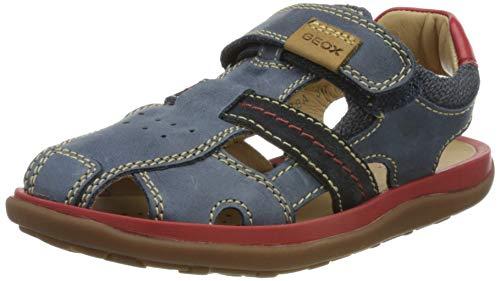 Geox Herren J Lipari Boy Geschlossene Sandalen, Blau (Navy/Red C0735), 38 EU