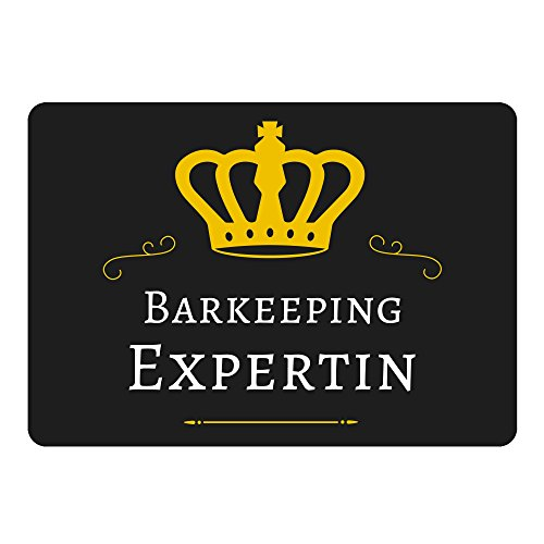 Multifanshop Mousepad Barkeeping Expertin schwarz