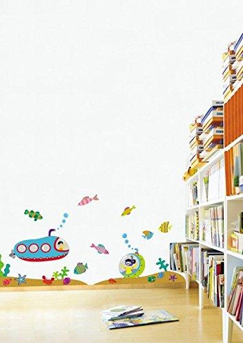 Sticker Mural Animaux Sous-Marin Pour la chambre des enfants
