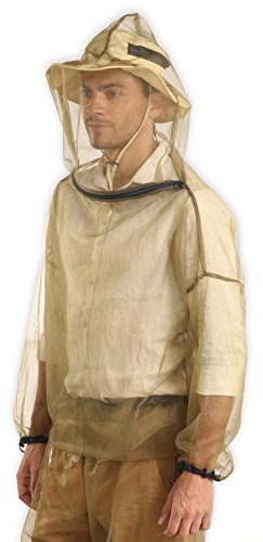 Bug Jacket with Hood & Free Carry Pouch - Anti Mosquito Net Repellent Clothing - Ultimate Protection from Bugs, No-See-Ums, Midges. Perfect for Hiking, Camping, Fly Fishing & Outdoor Activities