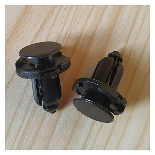 ENE 50pcs Parachoques Auto del Sujetador 9mm Agujero del Remache de retención presione la Cubierta de la Puerta de Coche Fender Panel de Ajuste Clip for Mitsubishi Honda (Size : A)