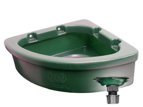 JFC EQ2 Futtertrog für Pferde - Eckmotage - 20 Liter - dunkelgrün
