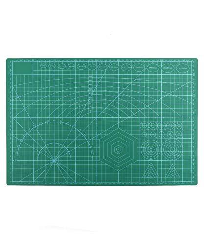Tabla de Corte, Cutting Mat, Alfombrilla de corte, Base de corte A3 doble cara auto curación para Costura y Manualidades, Esterilla para corte, autocurativa, 45 x 30 cm en Verde