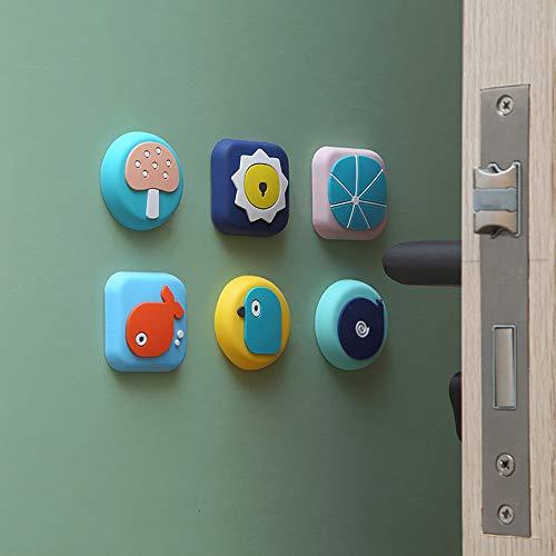 Protector de pared autoadhesivo de goma, bonito diseño de animales para puerta, para muebles, cama, mesa, cocina, oficina