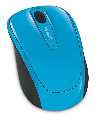 Microsoft 3500 Wireless Mobile Mouse, Cyan Blue (GMF-00273)