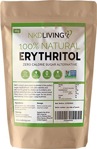 Eritritolo 100% naturale 2 Kg | Sostituto dello zucchero a ZERO Calorie