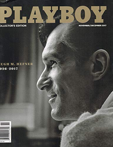 HUGH M HEFNER 1926-2017 - PLAYBOY MAGAZINE NOVEMBER DECEMBER 2017 -