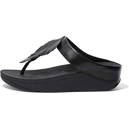 Fitflop Damen Fino Sandale, 090 komplett schwarz, 41 EU