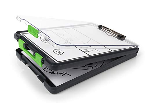 Dexas 5717-802 Clearview Clipcase Dry Erase clipboard, 13.75 X 9.5 Inch, Green