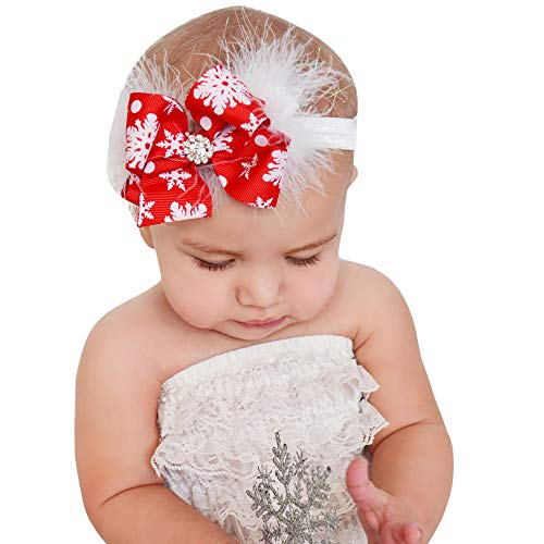 Morlipt Baby Headbands, Girl's Hairbands for Newborn,Toddler and Children cute style, Red, Medium