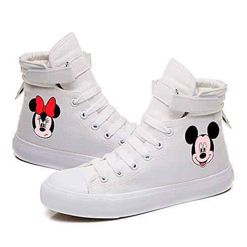 Mickey Mouse Unisex-Segeltuchschuhe Hi-Top Light Sneakers Modische Schnürschuhe-2