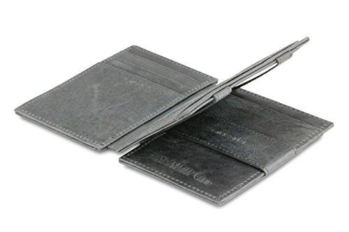 Portafoglio Garzini Magic in vera pelle pratico e spazioso da uomo con sistema di blocco RFID e tasca per carta d'identità