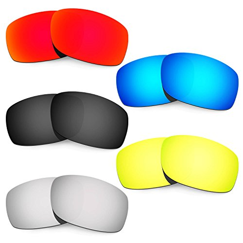 HKUCO Mens Replacement Lenses for Oakley Fives 3.0 Sunglasses - 5 Pair