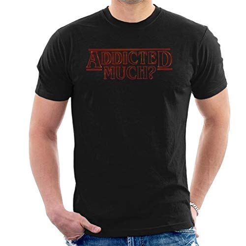 Cloud City 7 Addicted Much Stranger Things Men's T-Shirt