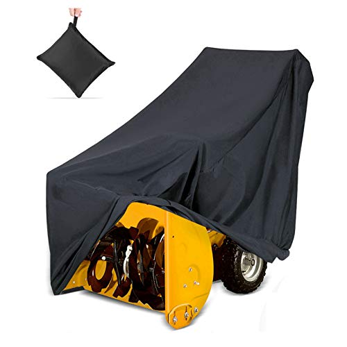 """NASUM Snow Thrower Cover, Two-Stage Snow Blowers Cover, 50"""" L x 43"""" H x 35"""" W, Dustproof, Windproof, for Most Electric Snow Blowers, with Locks Drawstring, Buckles, Storage Bag"""