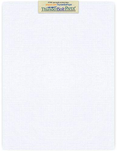 75 Bright White Linen 80# Cover Paper Sheets - 8.5' X 11' (8.5X11 Inches) Standard Letter Flyer Size - 80 lb/pound Card Weight - Fine Linen Textured Finish Cardstock