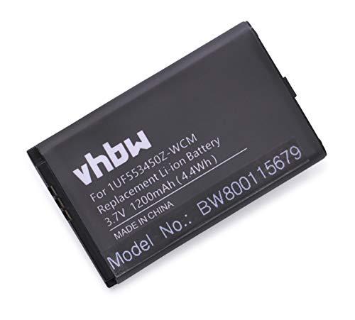vhbw Li-Ion Akku 1200mAh (3.7V) passend für Tablet Pad Wacom CTH-470, CTH-470S, CTH-670, CTH-670S, CTH-670S-DE, CTL-470, Intuos5 Touch, PTH-450-DE