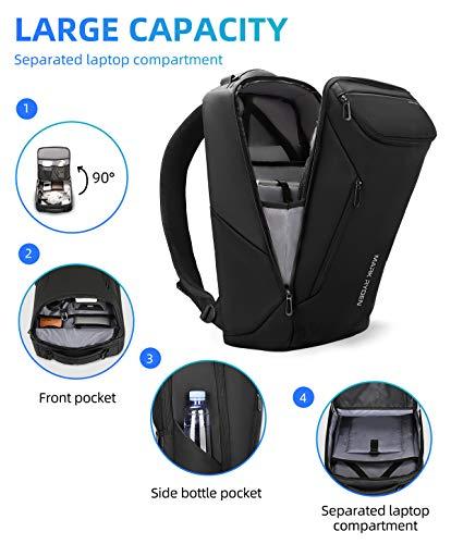 Mark Ryden Wasserdichter Laptop-Rucksack, Geschäftsreise-Rucksack mit großer Kapazität für Herren, Damen mit USB, passend für 17,3 Zoll / 15,6 Zoll Laptop,2 Taschen