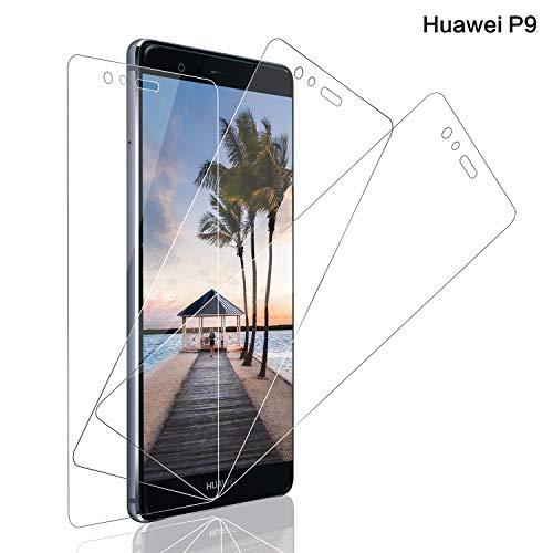 SNUNGPHIR® Cristal Templado Huawei P9 Protector Pantalla Huawei P9 Cristal Vidrio Templado Protector Pantalla [9H Dureza] [Alta Definicion] para Huawei P9 [3pcs]