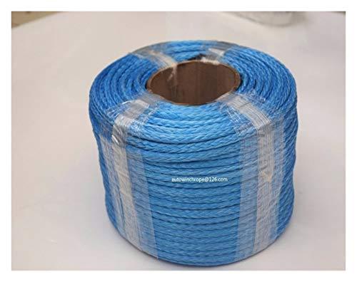 QPLKL Torno de Cable sintético 6mm Azul * 100m Cuerda sintética, Barco...