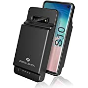ZeroLemon Galaxy S10 Battery Case, 8000mAh Extended Rechargeable Battery with Soft TPU Protective Portable Case for Galaxy S10 - Black