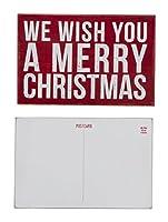 """プリミティブby Kathyポストカード"""" We Wish You a Merry Christmas """""""