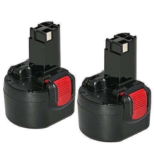 2 Stück REEXBON Akku 9,6V 3,0Ah Reale Kapazität Ni-Mh Ersatzakku für Bosch BAT048 BAT100 BAT119 2607335272 2607335461 PSR 960 GSR 9.6 GDR 9.6 V
