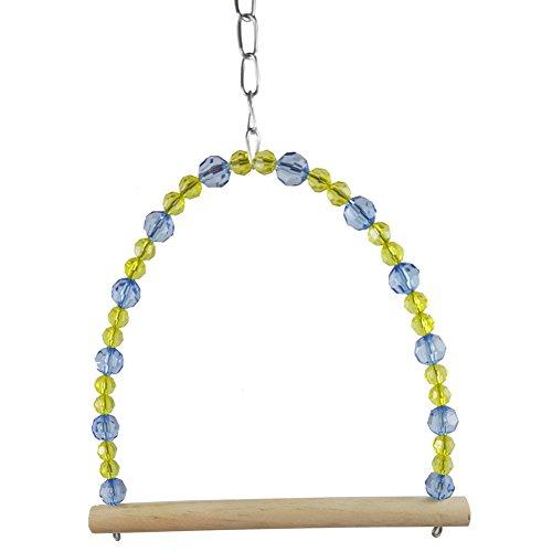 CAOLATOR Cage hamac balançoire Suspendue Chew Toy Pet Parrot Oiseau Perruche Perruche Calopsitte Inséparables Swing Regard(18 * 1.5 * 25cm)
