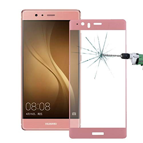 A + Xu Jie Para Huawei P9 Plus 0,26 mm 9H dureza superficial 3D a prueba de explosiones de seda coloreada pantalla completa de vidrio templado (color: rosa)