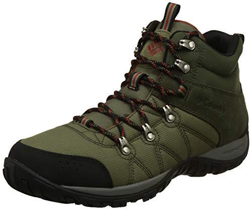 Columbia Men Peakfreak Venture Mid Lt Artichoke Green Flame Hiking Shoes-12 (BM4487-320-12)