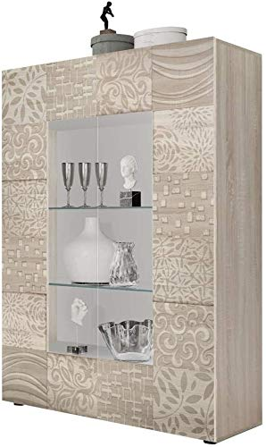 Geschirr, verwendet in Wohn- und Schlafzimmer-Eichen-Ausstellungsschränken, Displayschränke für Wohnzimmer und Schlafzimmer,Beige