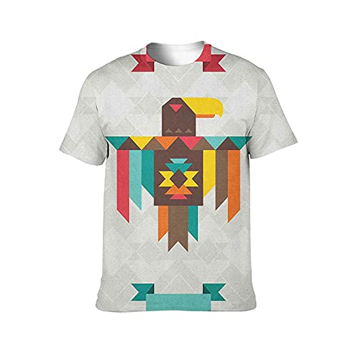 Southwestern T Shirt Composition with an Eagle in...