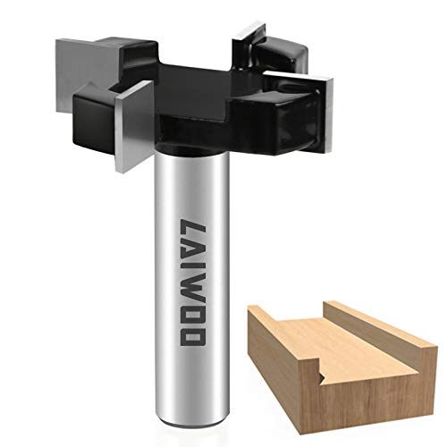 CNC Spoilboard Surfacing Router Bit 1/2' Shank 2 inch Cut Dia, Slab Flattening Router Bit Carbide Planer Router Bits Woodworking Tools Wood Milling Cutter Planing Tool