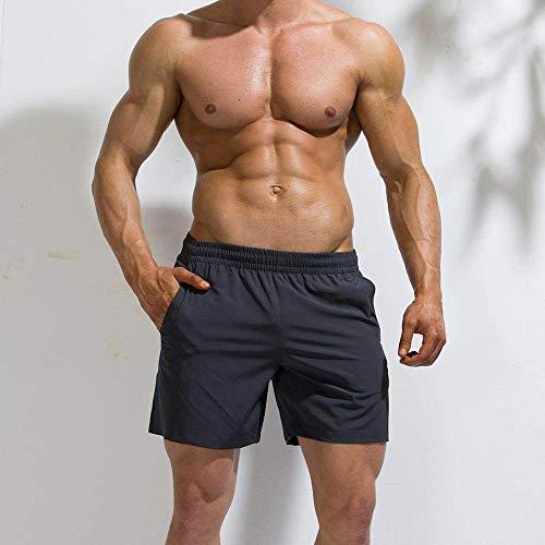 Badehose Für Herren,Männer Lässig Sport Shorts Sommer Fitness Strand Hosen Muskel Kerlen Wasser Sport Hose Grau Big Size Stretch Atmungsaktiv Home Shorts, Bild, XXL