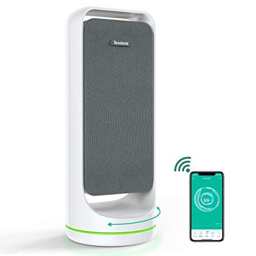 スマート空気清浄機 小型 空気清浄器 静音 Alexa/Google Home対応 Tendomi 除菌 消臭 タバコ ペット臭 生活臭 花粉 ホコリ 対策 適用面積8畳