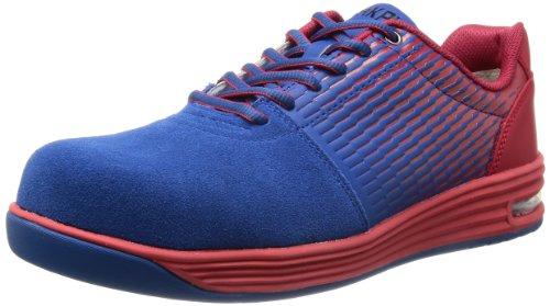 [ミドリ安全] 安全作業靴 JSAA認定 エアクッション付き プロスニーカー WPA110 メンズ ブルー/レッド 22.5