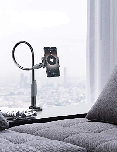 \N Diom Soporte de teléfono móvil, soporte de cuello de cisne universal para iPhone Smartphone Teléfono Móvil Tablet 360° Giratorio (Negro)