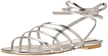 Rampage Women s Athena Strappy Sandal Flat Silver 9