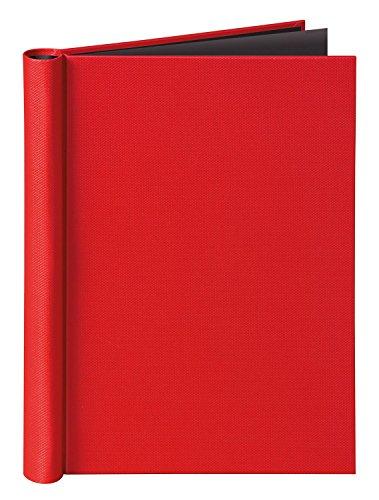 Veloflex 4944321 Klemmbinder A4 Velocolor mit Leinenstruktur, Klemm-Mappe, passend für Prospekthüllen, rot