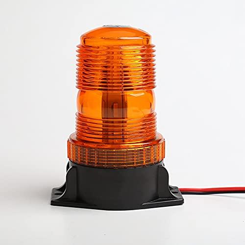 LIPETLI Appow luz led EstroboscóPica, Faro Intermitente de Advertencia de Emergencia áMbar MagnéTico para CamióN o VehíCulo con Enchufe para Mechero de Coche de 12v