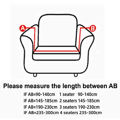 Cafopgrill Copridivano Elastico Antiscivolo per Divano Elastico sfoderabile in Tessuto Elastico copridivano/Due/Tre/Quattro posti(2 Seater :145-185cm)