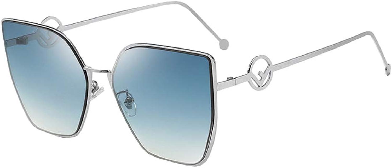 Women's Sunglasses, Cat's Eye Sunglasses, Fashion Street Shot Big Face Oversized Metal Frame Sunglasses, Classic Design Sunglasses,M1