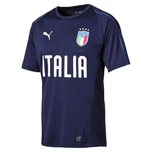 PUMA Herren FIGC Italia Training Jersey SS, Peacoat-Team Power Blue, S