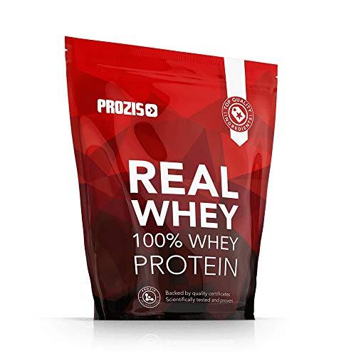 Prozis 100% Real Whey Protein, Suplemento Puro en Polvo con un Perfil Completo de Aminoácidos y Rico en BCAA, Natural - 1000 g ⭐
