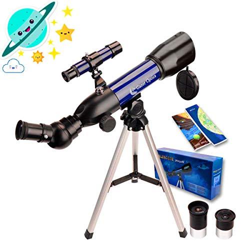 Moutec Telescopio astronómico para niños, telescopios refractores con trípode liviano...