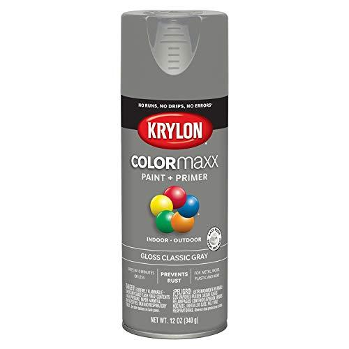 Krylon K05513007 COLORmaxx Spray Paint, Aerosol, Classic Gray