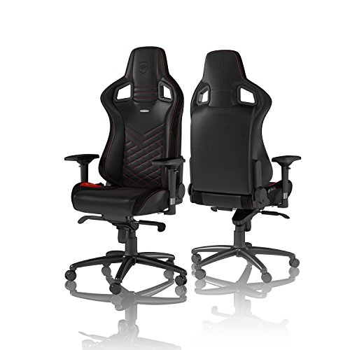 noblechairs Epic Gaming Chair - Office Chair - Desk Chair - PU Leather - Black/Red