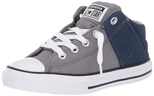 Converse Girls' Chuck Taylor All Star Axel Canvas + Textile Sneaker, Mason/Obsidian/White, 13.5 M US Little Kid