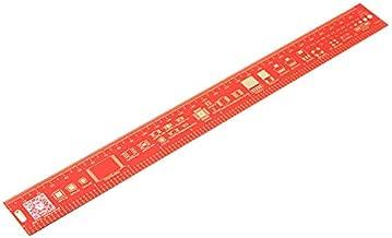 3Pcs 30cm Multifunctional Ruler Measuring Red - Arduino Compatible SCM & DIY Kits Arduino Compatible SCM Components - 3 x 30cm Multifunctional PCB ruler
