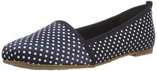 Tamaris Damen 1-1-24668-22 888 Slipper Blau (Navy Dots 888), 39 EU